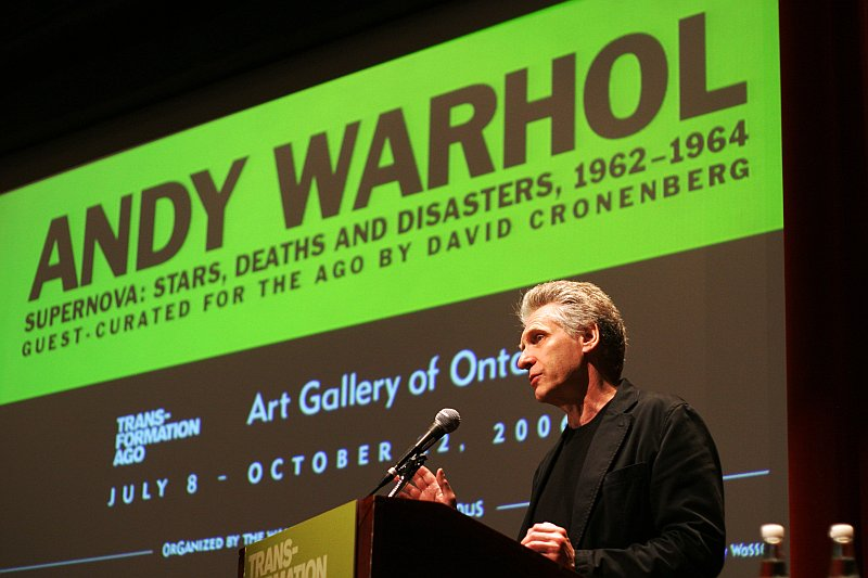 David Cronenberg talking about Andy Warhol    (click for previous picture)