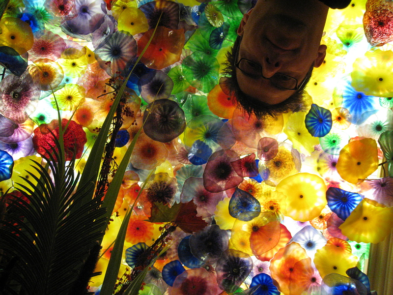 Self portrait in the Bellagio flowered ceiling    (click for previous picture)