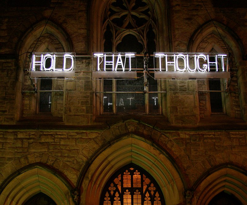 "Nuit Blanche ""Hold That Thought""    (click for previous picture)"