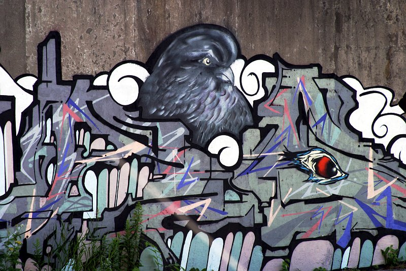 Pigeon Mural 1    (click for previous picture)