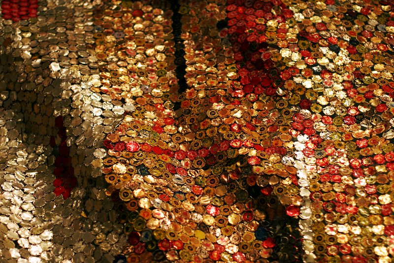 El Anatsui at the ROM - Straying Continents    (click for previous picture)