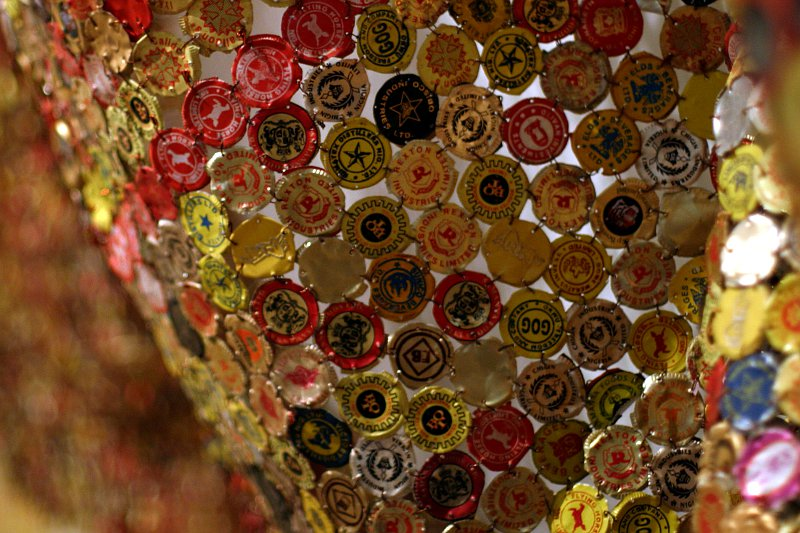 El Anatsui at the ROM - Straying Continents 2    (click for previous picture)