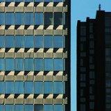Blue grid building