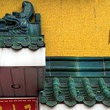 Toronto Chinatown yellow wall