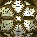 Historic photo from Saturday, May 24, 2014 - Hare Krishna leaded glass window 1 in Summerhill